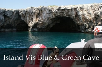 Island Vis Blue and Green Cave