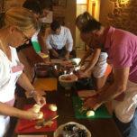 Cooking class in the olive grove
